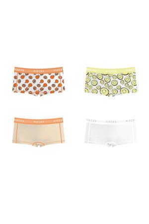 short (set van 4) lichtgeel/oranje