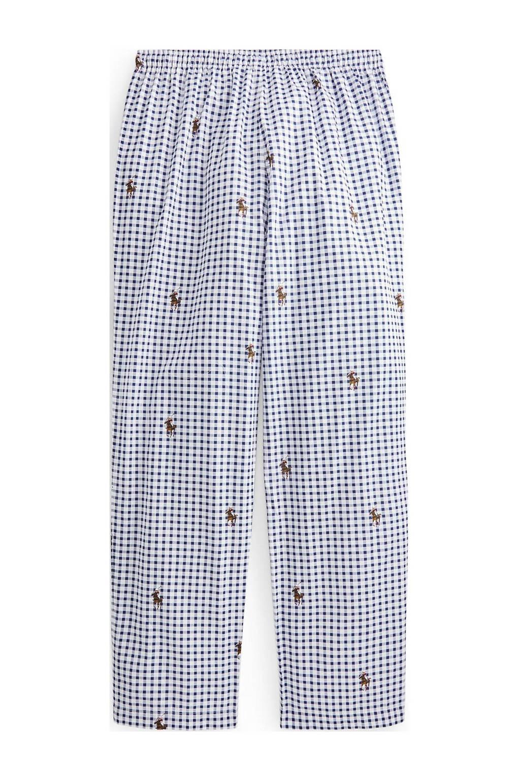 POLO Ralph Lauren geruite pyjamabroek donkerblauw/wit, Donkerblauw/wit