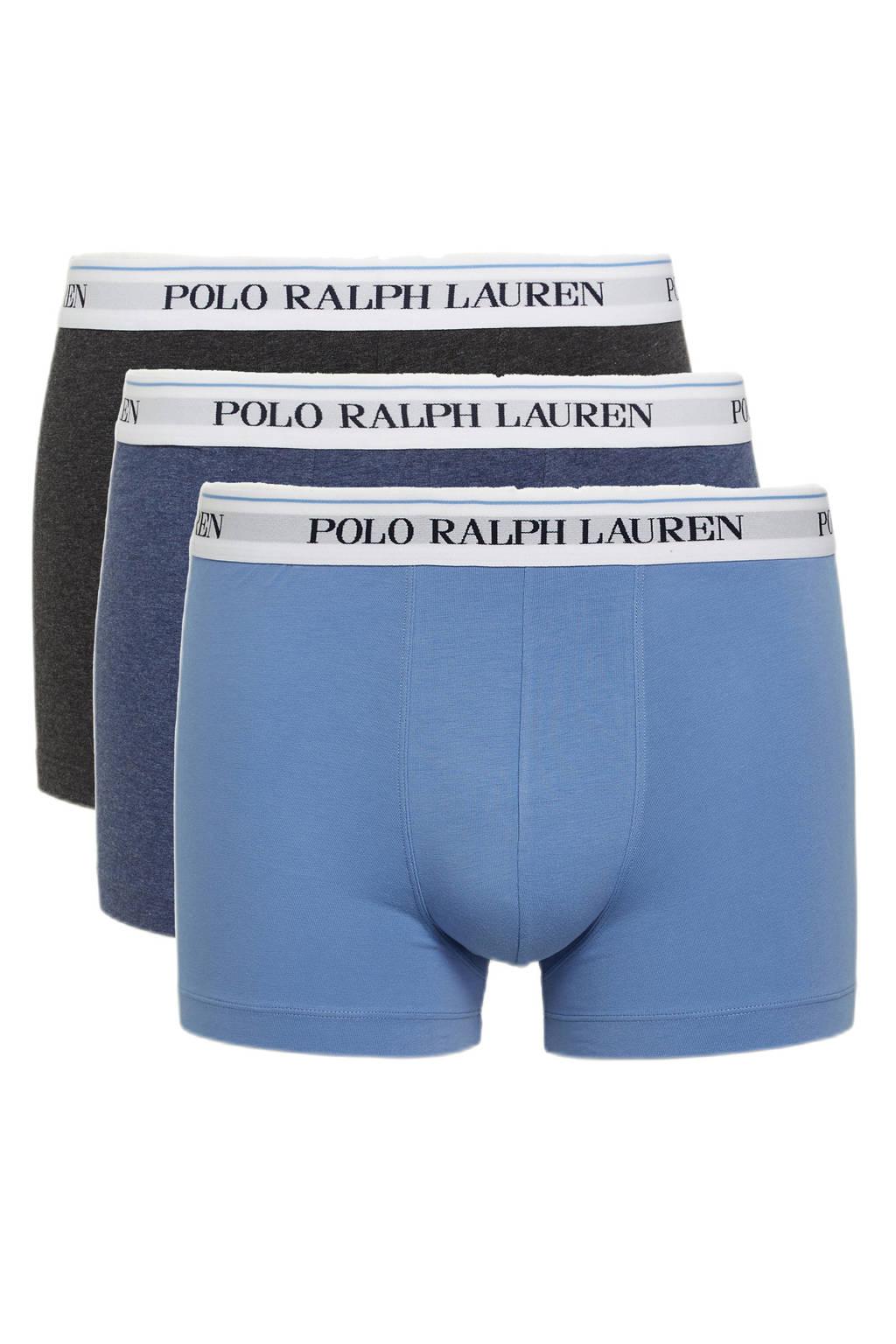 POLO Ralph Lauren boxershort (set van 3), blauw/donkergrijs