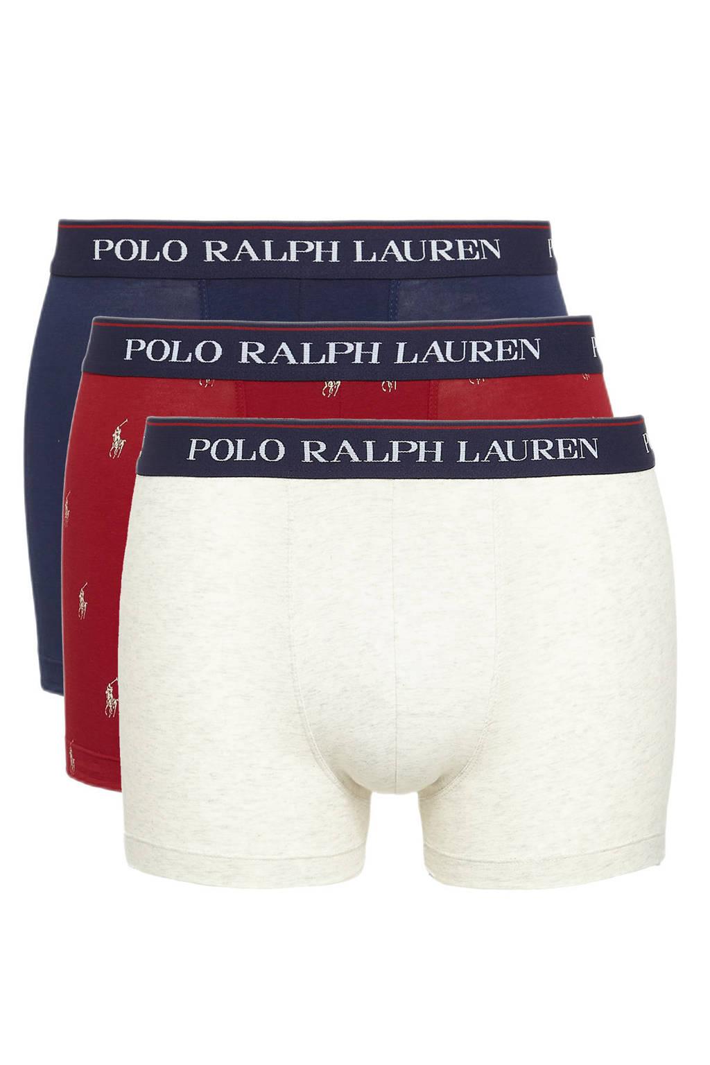 POLO Ralph Lauren boxershort (set van 3), Rood/donkerblauw/ecru