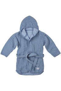 Meyco   hydrofiele badjas Uni denim blauw, Denim blauw