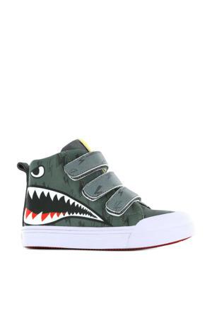 Sharky  hoge sneakers met dierenprint grijs