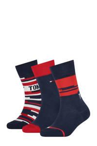 Tommy Hilfiger sokken - set van 3 donkerblauw/rood, Donkerblauw/rood