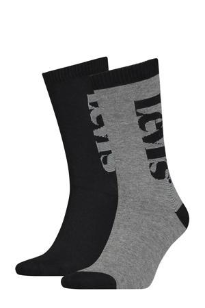 sokken - set van 2 zwart/grijs