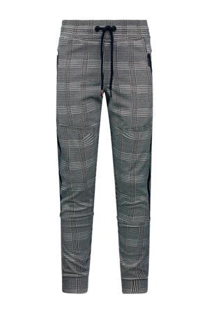 geruite slim fit broek Valentino zwart/wit