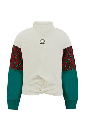 sweater Emily ecru/groen/rood