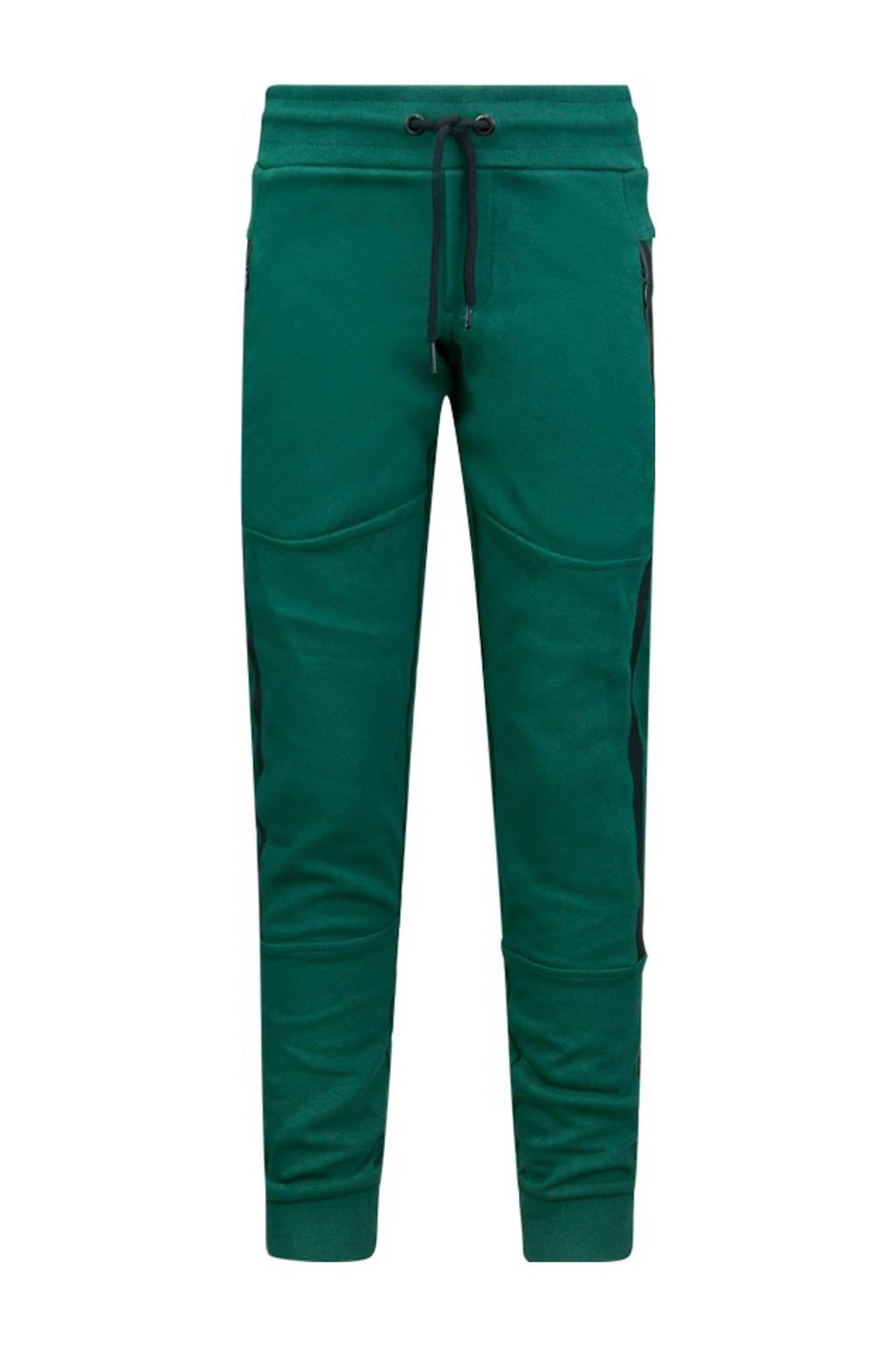 Retour Denim slim fit joggingbroek Valentijn met zijstreep groen, Groen
