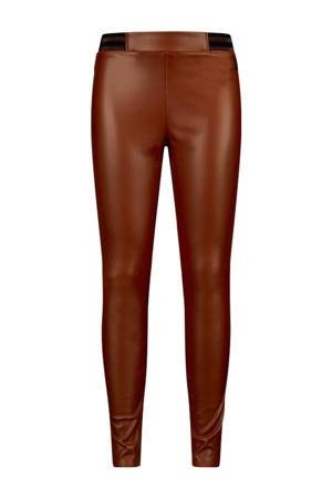 imitatieleren skinny broek Ivy toffee bruin