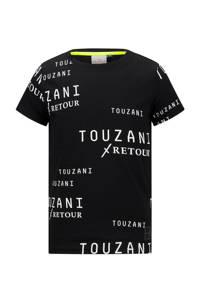 Retour Denim Retour Jeans x Touzani T-shirt Soccer van biologisch katoen zwart/wit, Zwart/wit