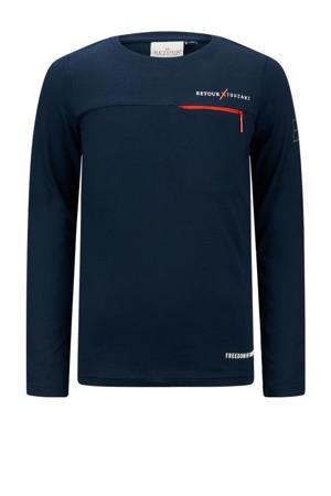 Retour Jeans x Touzani longsleeve Goal van biologisch katoen donkerblauw