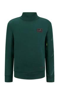 Retour Denim Retour Jeans x Touzani sweater Hotstepper met printopdruk donkergroen, Donkergroen