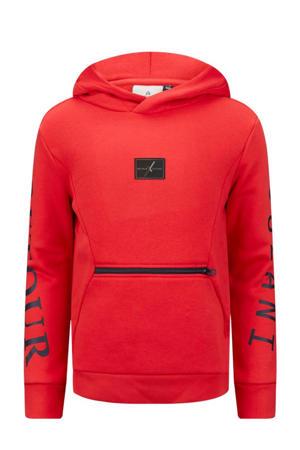 Retour Jeans x Touzani hoodie Pildriver met logo rood/zwart