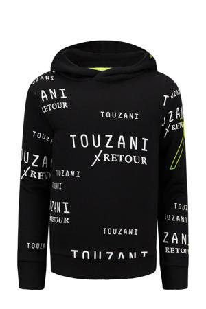 Retour Jeans x Touzani hoodie Trick met all over print zwart/wit