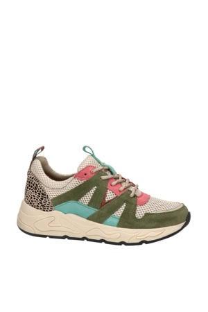 suède chunky sneakers beige/multi