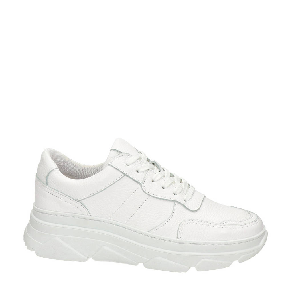 Nelson   leren chunky sneakers wit, Wit