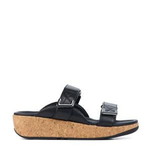 Remi Slides  leren slippers zwart