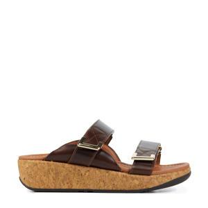 Remi Slides  leren slippers bruin