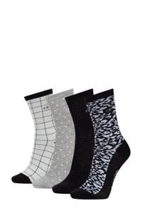 CALVIN KLEIN sokken - set van 4 zwart/grijs, Zwart/grijs