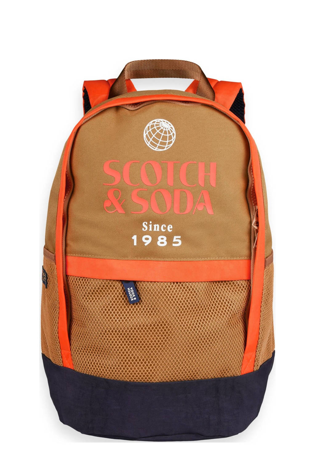 Scotch & Soda  rugzak beige/oranje, Beige/oranje