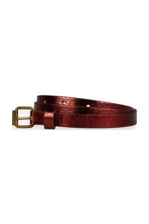 metallic riem roodbruin