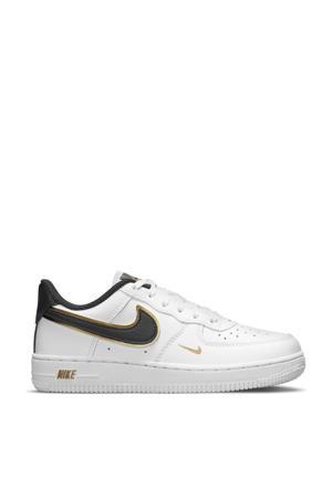 Force 1 LV 8 sneakers wit/zwart/metallic goud