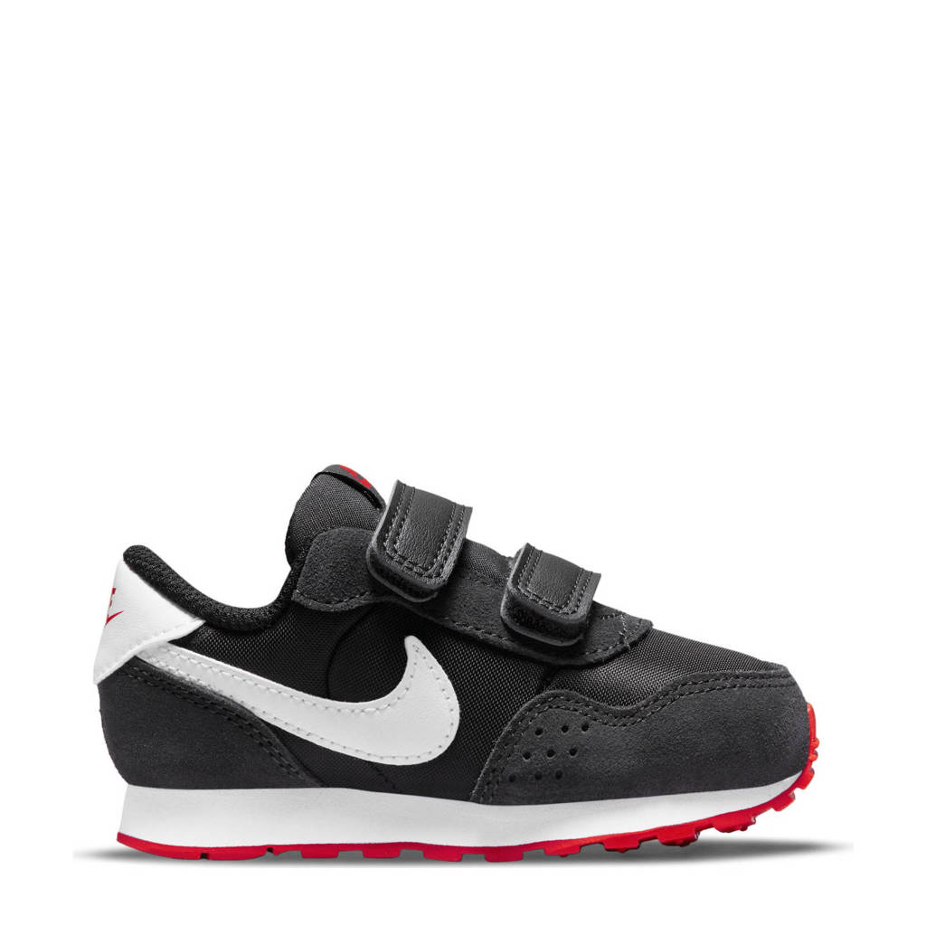 Nike MD Valiant  sneakers zwart/wit/rood, Zwart/wit/rood
