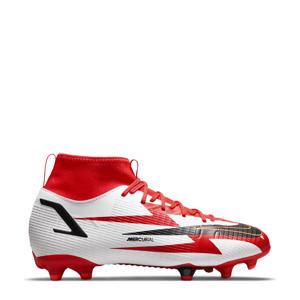 Mercurial Superfly 8 academy CR 7 FG/MG Jr. voetbalschoenen rood/zwart/wit