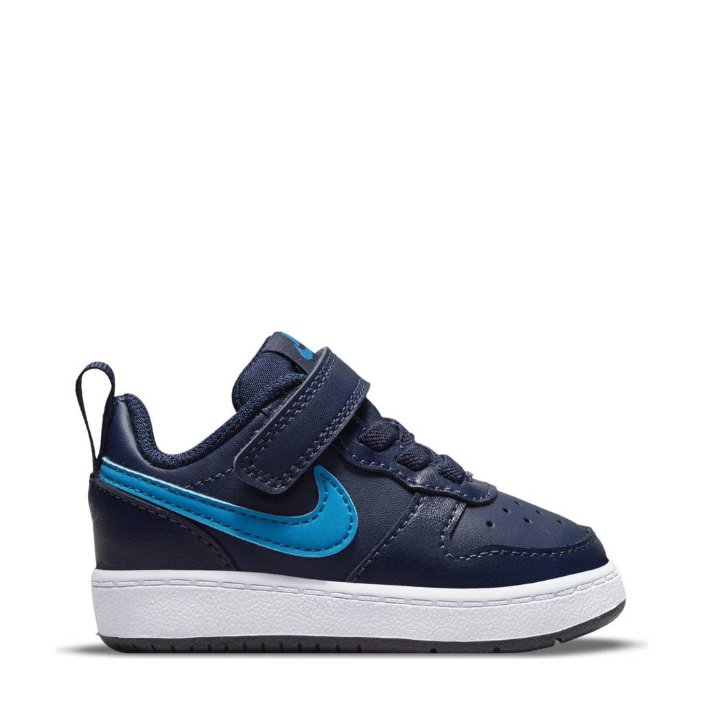 Nike Court Borough Low 2 sneakers zwart/blauw, Zwart/blauw
