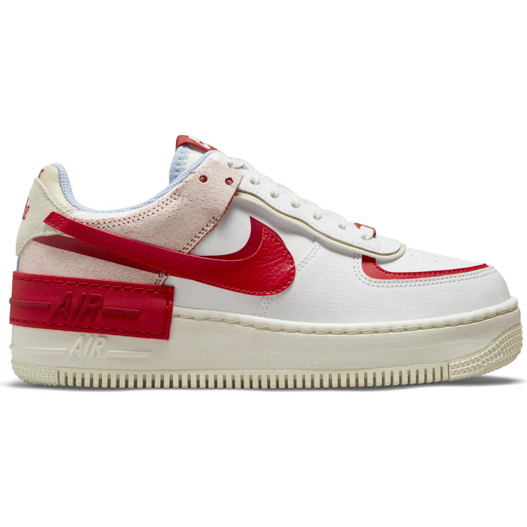 Nike Air Force 1 Shadow sneakers wit/rood/roze, Wit/rood/roze