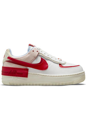 Air Force 1 Shadow sneakers wit/rood/roze