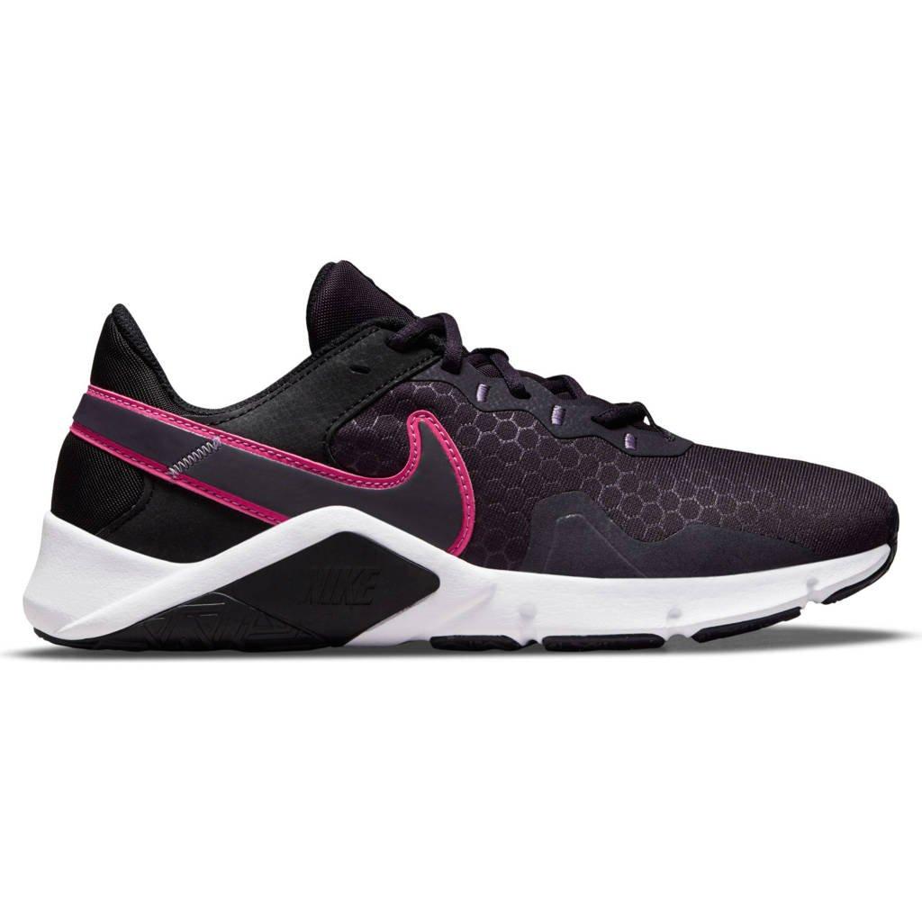 Nike Legend Essential 2 fitness schoenen zwart/roze/paars, Zwart/roze/paars