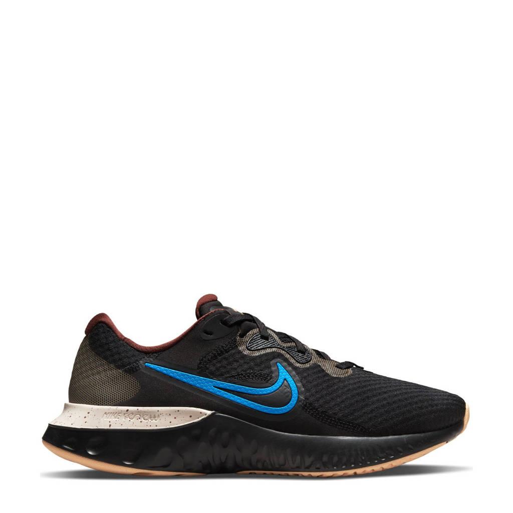 Nike Renew Run 2 hardloopschoenen zwart/blauw/ecru, Zwart/blauw/ecru