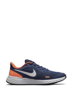 Revolution 5 sneakers donkerblauw/wit/oranje