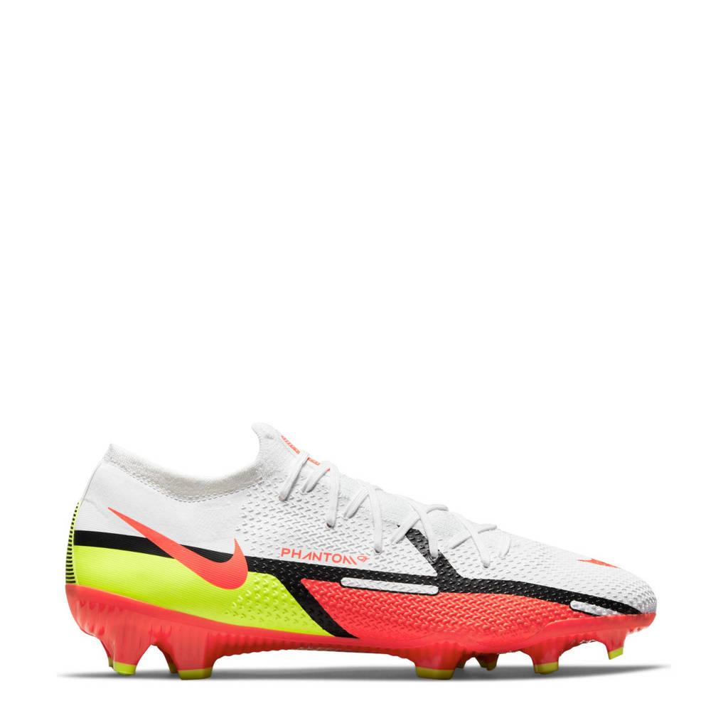 Nike Phantom GT2 Pro FG voetbalschoenen wit/rood/geel, Wit/rood/geel