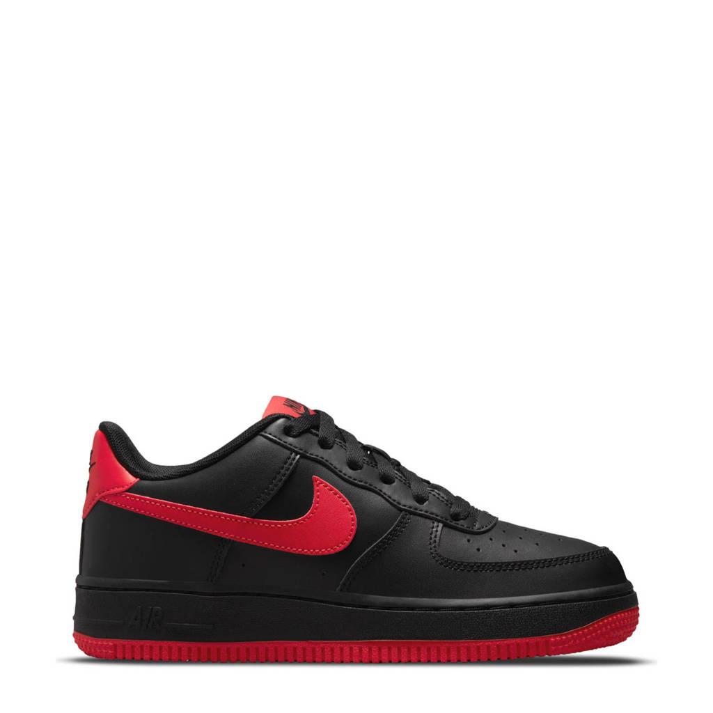 Nike Air Force 1  sneakers zwart/rood, Zwart/rood