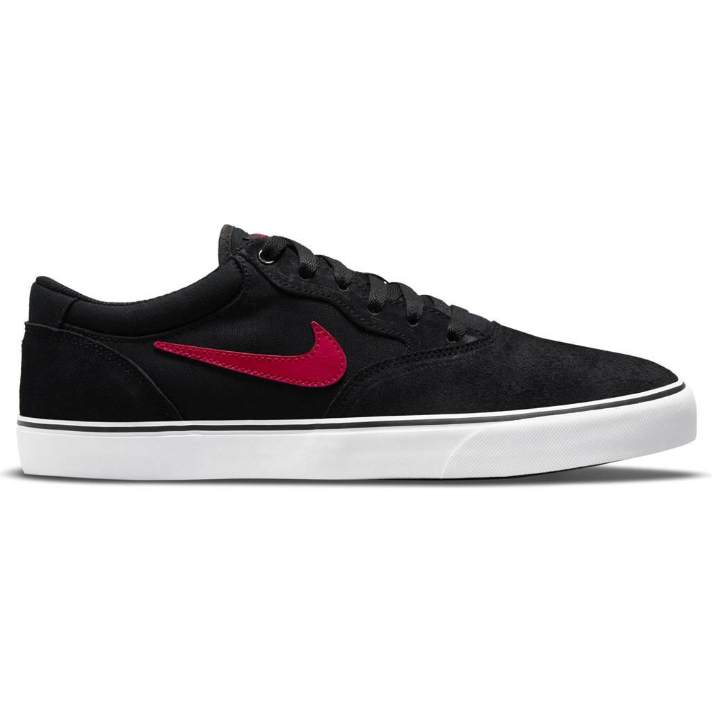 Nike SB Chron 2 sneakers zwart/rood/wit, Zwart/rood/wit