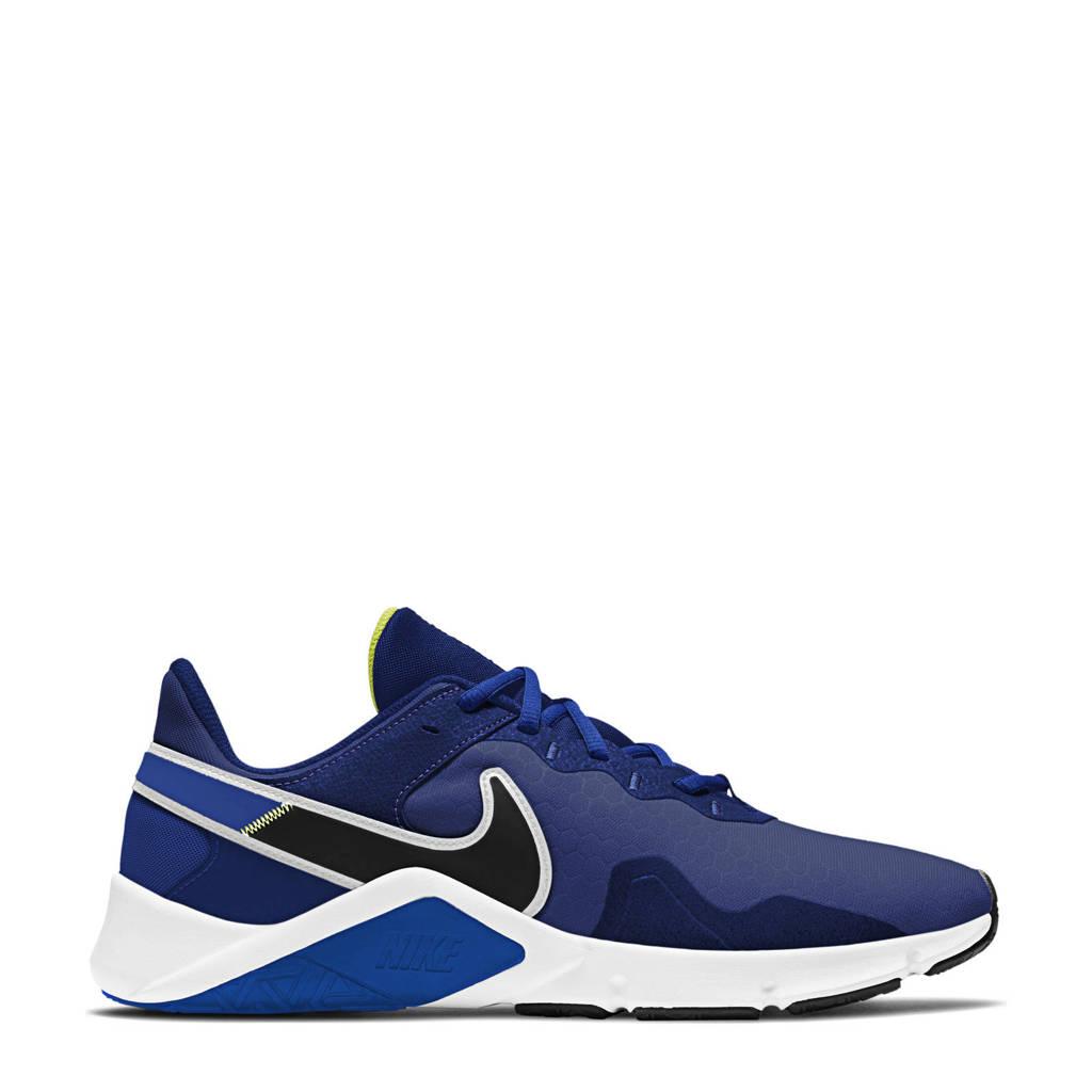 Nike Legend Essentail 2 fitness schoenen blauw/zwart/wit, Blauw/zwart/wit
