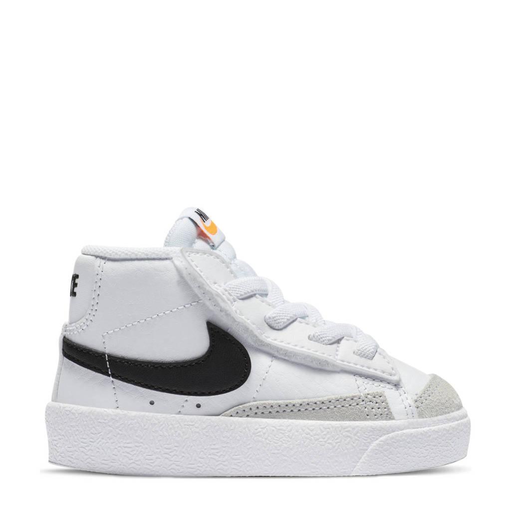 Nike Blazer Mid '77 sneakers wit/zwart, Wit/zwart