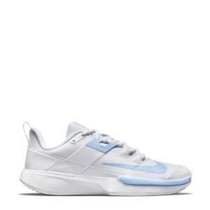 NikeCourt Vapor Lite HC tennisschoenen wit/lichtblauw