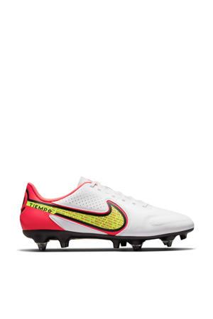 Tiempo Legend 9 Academy SG-Pro Ac voetbalschoenen wit/rood/geel