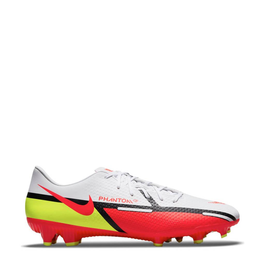 Nike Phantom GT2 Academy FG/MG voetbalschoenen wit/rood/geel, Wit/rood/geel