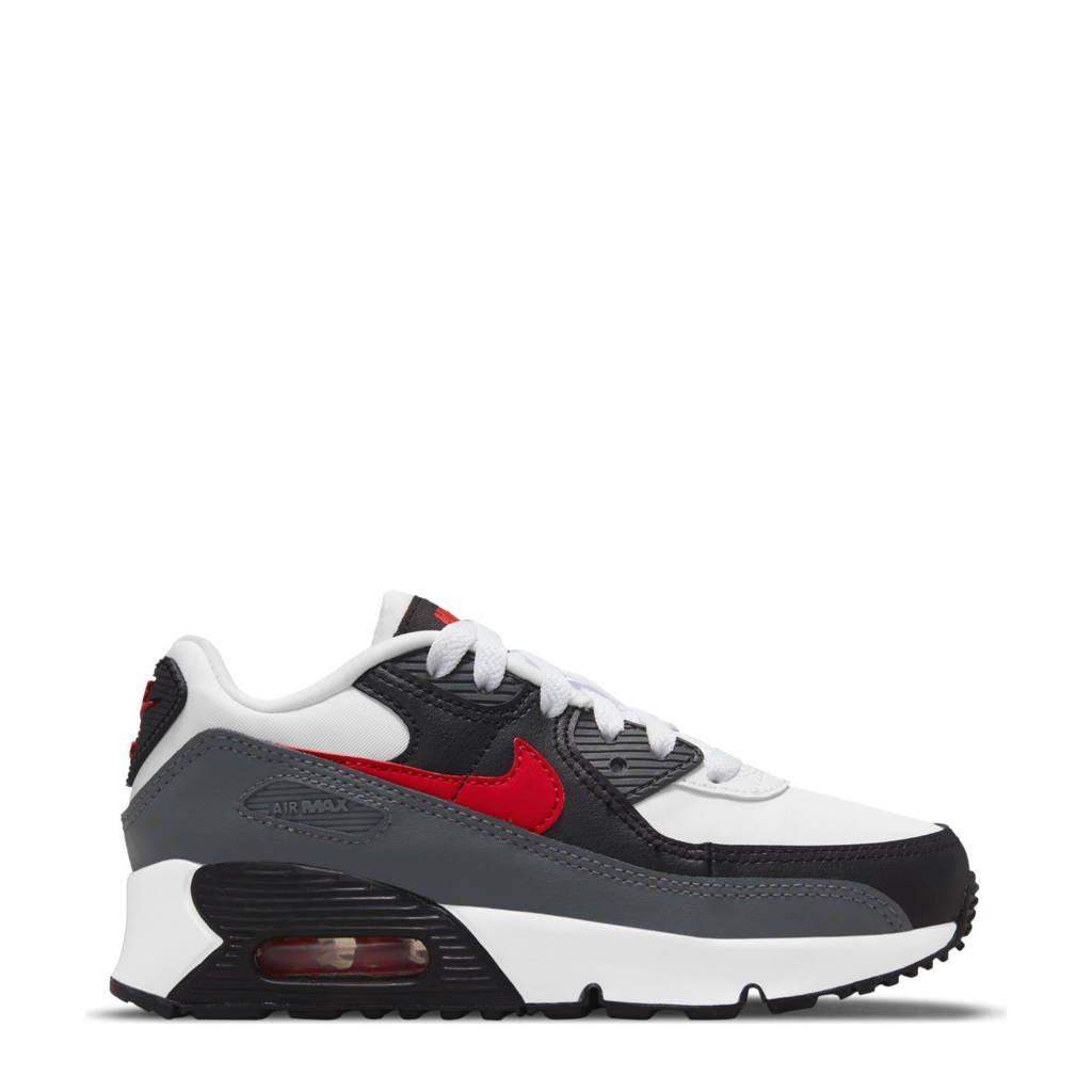 Nike Air Max 90 Ltr sneakers wit/rood/grijs/zwart, Wit/rood/grijs/zwart