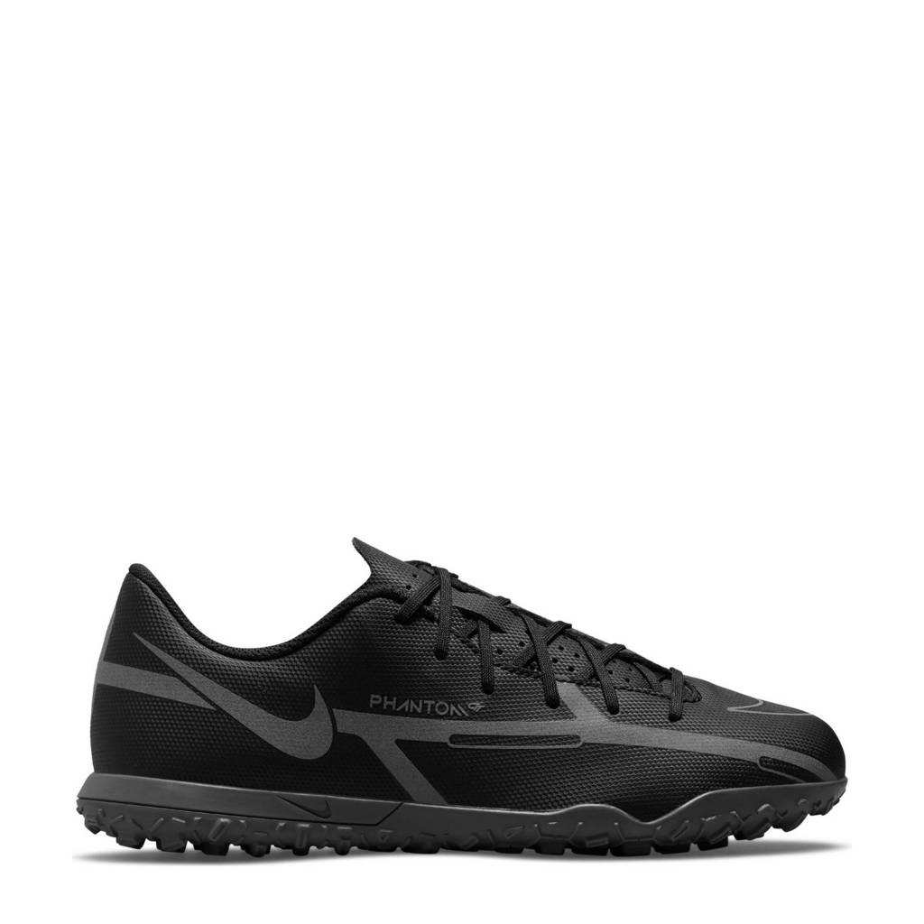 Nike Phantom GT2 Club TF voetbalschoenen zwart/metallic zilver, Zwart/metallic zilver