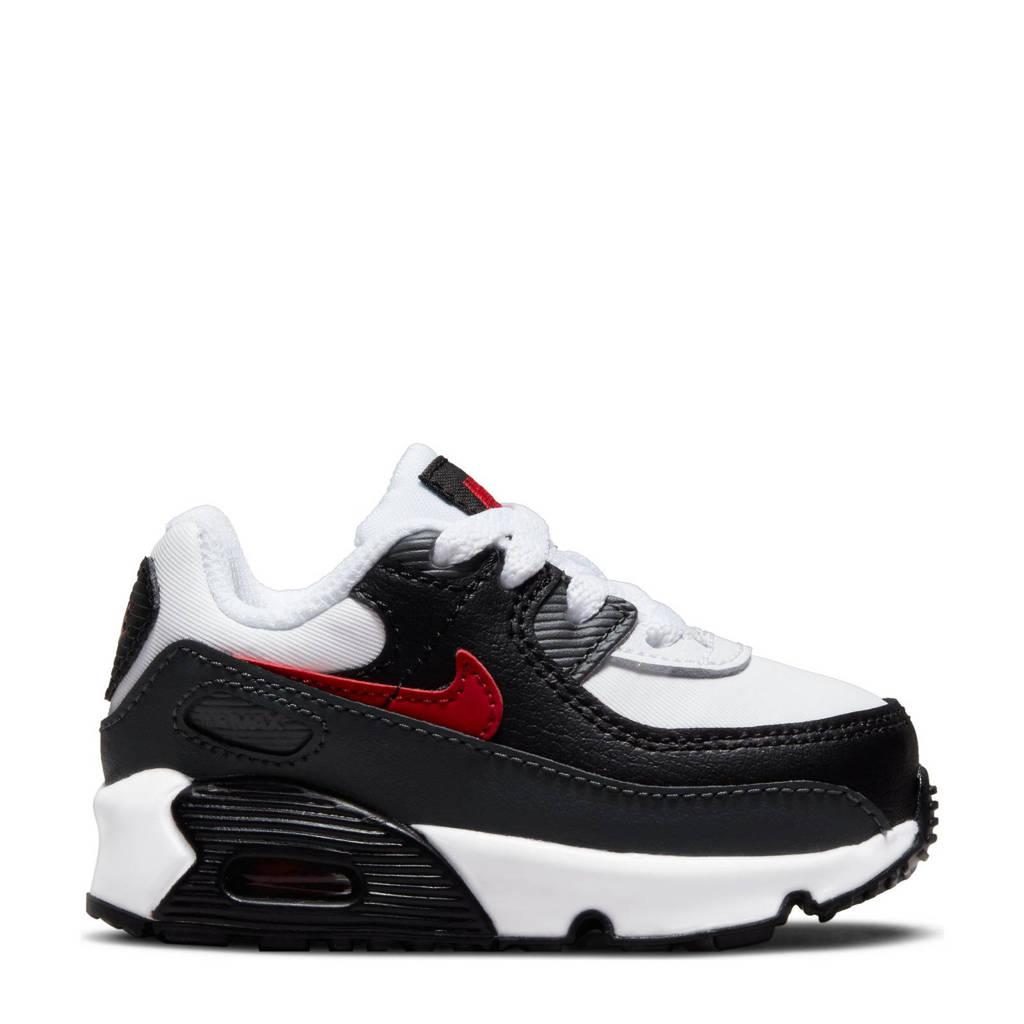 Nike Air Max 90  sneakers wit/zwart/rood, Wit/zwart/rood
