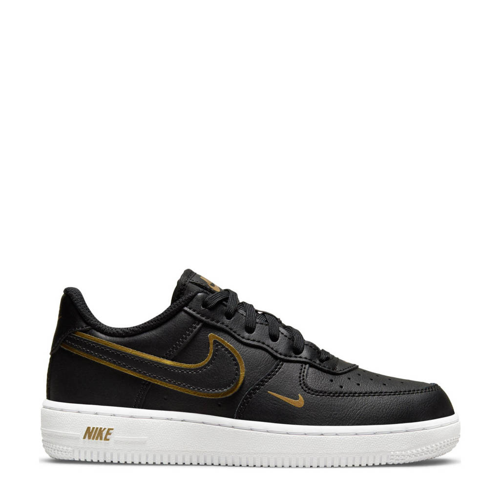 Nike Force 1 LV 8 sneakers zwart/metallic goud, Zwart/metallic goud