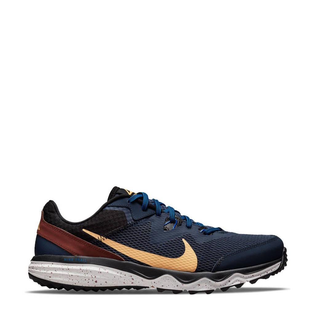 Nike Juniper Trail  hardloopschoenen donkerblauw/lichtoranje/bruin