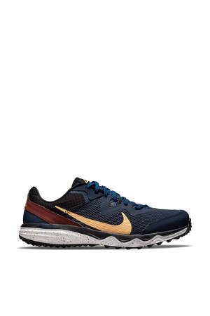 Juniper Trail  hardloopschoenen donkerblauw/lichtoranje/bruin
