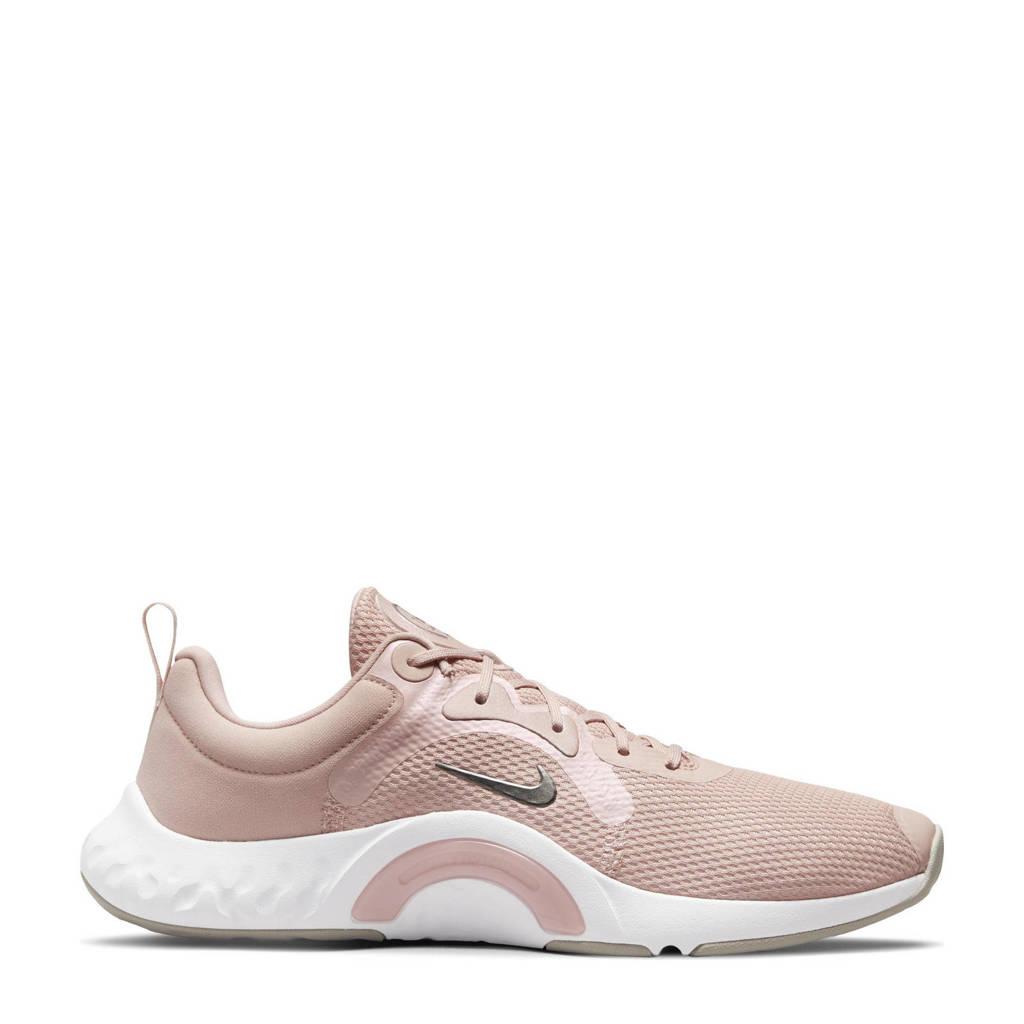 Nike Renew In-Season Tr 11 fitness schoenen roze/zilver, Oudroze/wit