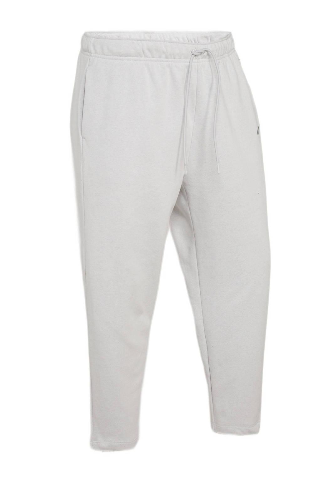 Nike regular fit broek met logo lichtgrijs, Lichtgrijs