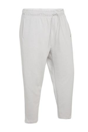 regular fit broek met logo lichtgrijs